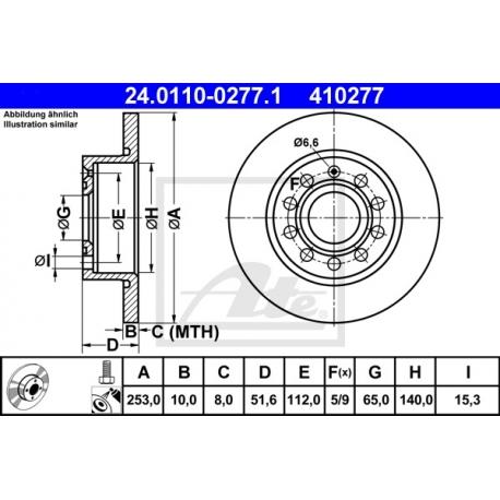 TARCZA HAM. VW T. GOLF 5/A3/OCTAVIA/CADDY/SCIROCCO/SEAT