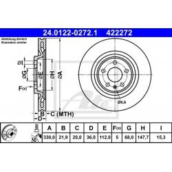 TARCZA HAM. AUDI T. A4/A5/A6/A7/Q5/Q7 1,8-3,2 07-