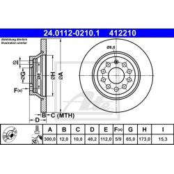 TARCZA HAM. VW T. GOLF/PASSAT/TIGUAN 1,2-2,0 12-