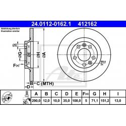 TARCZA HAM. CITROEN T. C5 1,6-3,0 HDI 08-