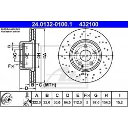 TARCZA HAM. DB P. W204 C280-350B/CDI SPORT/AMG