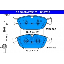 KLOCKI HAM. AUDI P. A6/A7/A8 2,0-6,3 QUATTRO 10-
