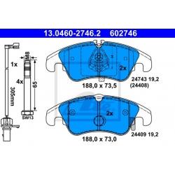 KLOCKI HAM. VW P. A4/A5 07-/A6 09- TARCZA 320MM