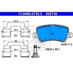 KLOCKI HAM. VOLVO T. S60/V60/V70/S80/XC70 06-