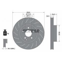 TARCZA HAM. DB P. W204 C280-350B/CDI/W212 SPORT/AMG