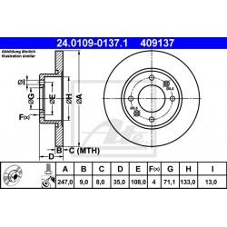 TARCZA HAM. CITROEN T. BERLINGO/C2/C3/C4/XSARA 99-