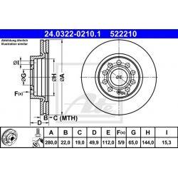 TARCZA HAM. VW P. CADDY/GOLF/JETTA 04- POWER DISC