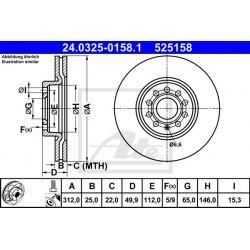 TARCZA HAM. VW P. CADDY/GOLF/JETTA/PASSAT/TIGUAN/TOURAN 05- POWER DISC