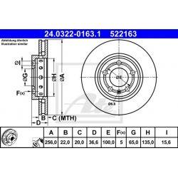 TARCZA HAM. VW T. BORA/GOLF/NEW BEETLE 98-06 POWER DISC