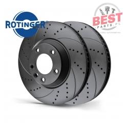 ROTINGER ZESTAW TARCZ TYL/AUDI A6 AVANT 3.0TDI 11- (RT 21355-GL T5)