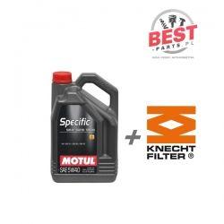 MOTUL SPECIFIC 505.01 5L + kNECHT OX 143 D 1.9/2.0 TDI