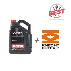 MOTUL SPECIFIC 504 507 5W30 5L + KNECHT OX 188D