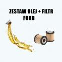 ZESTAW OLEJ + FILTR FORD